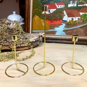 Faux gold candlesticks